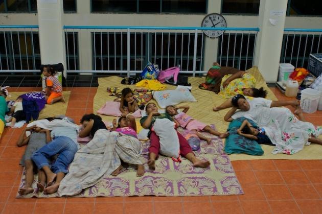 Tsunami warming in Tuvalu