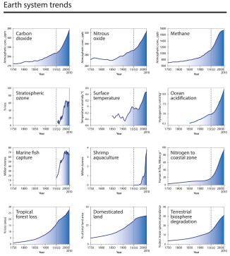 The trajectory of the Anthropocene: The Great Acceleration, 16 January 2015, Anthropocene Review, W. Steffen et al.